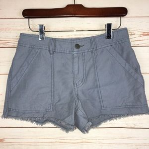 Free People Gray Raw Hem Frayed Shorts Sz 2